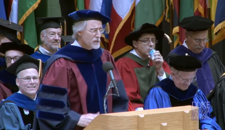 Commencement Speech from The Duke MBA Graduation by David ...